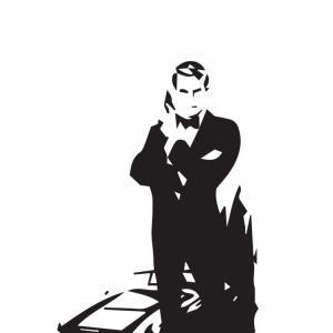 300x300 James Bond Silhouette Outline On White Arenawp