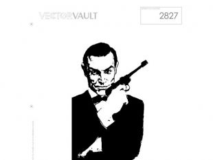 310x233 James Bond Silhouette Vectors Free Vectors Ui Download