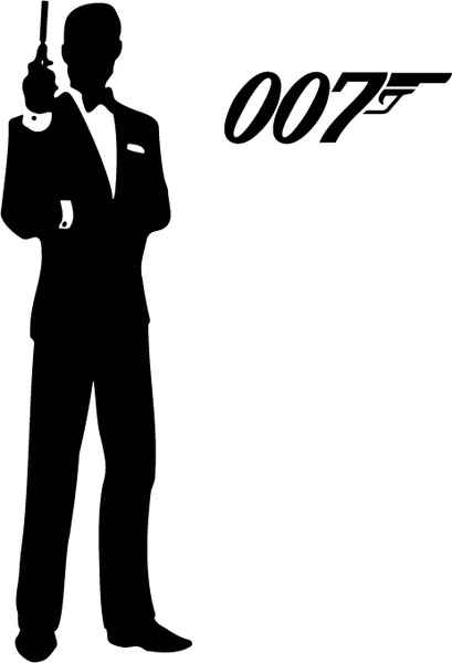 409x600 James Bond 007 Free Vector In Encapsulated Postscript Eps ( Eps