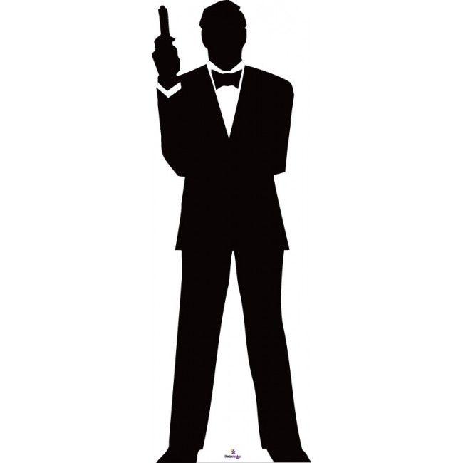 650x650 Pleasing James Bond Silhouette 1 Cardboard Cutout Star