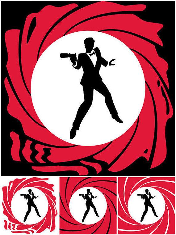 570x757 Spy Vector Cartoon Illustration. Secret Agent 007 Man