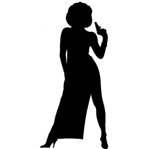 500x500 James Bond Silhouette