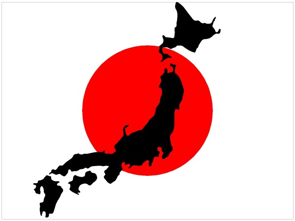 600x450 Flag Decals Japan Flag With Map Decal Sticker