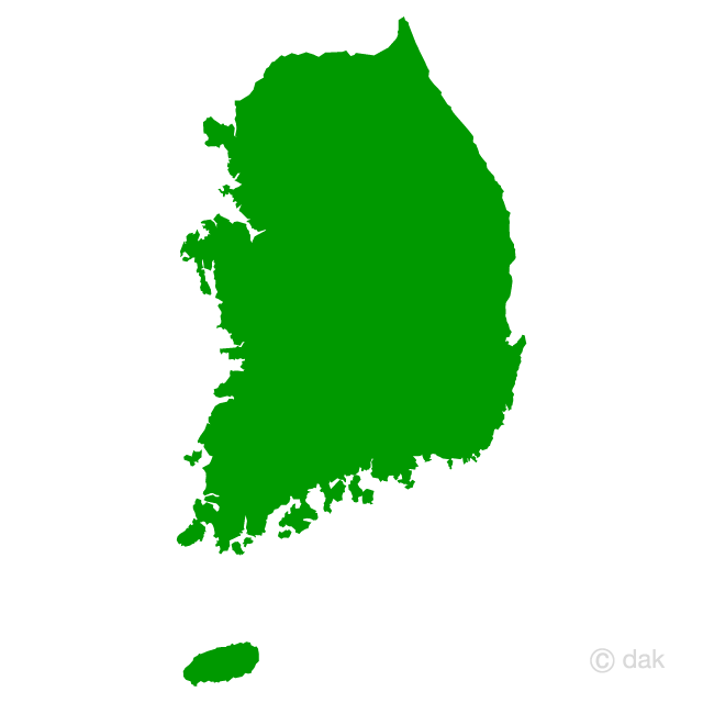 640x640 Free South Korea Map Silhouette Cartoon Amp Clipart