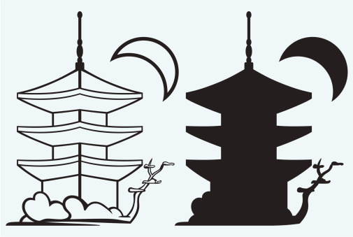505x339 Inspirations Ancient Chinese Architecture Drawing And Pagoda Japan