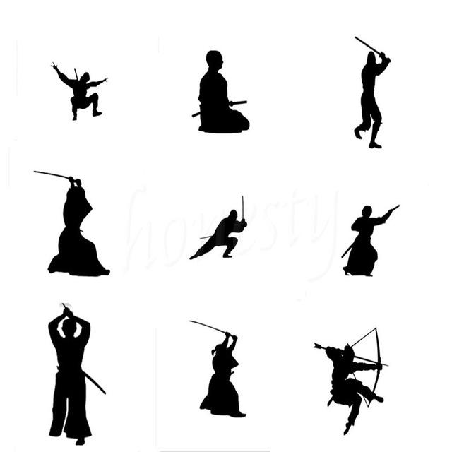 640x640 Kendo Sticker Samurai Japan Ninja Poster Art Wall Home Glass