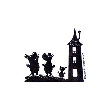 355x355 Moomin Wall Sticker House Silhouette Mmst569 (Japan Import