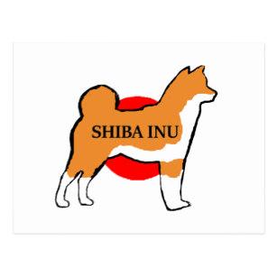 307x307 Black Japanese Shiba Inu Cards