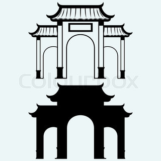 320x320 Chinese Pagoda Building Of The Temple Of Oriental Culture In