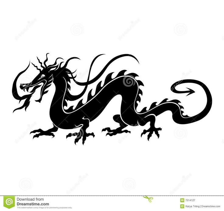 Japanese Dragon Silhouette