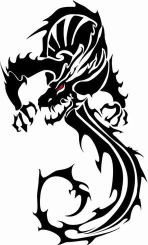296x490 Black Vector Dragon