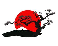 200x160 The Japanese landscape silhouette vector Stock Photos Rock