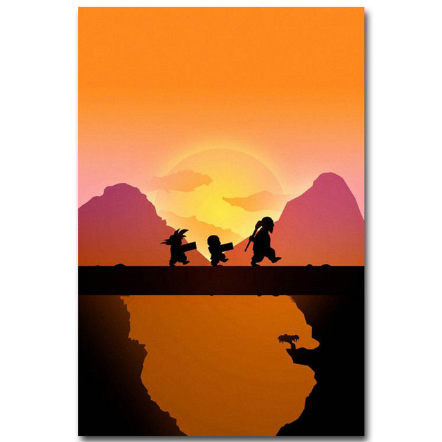 640x640 Dragon Ball Z Art Silk Fabric Poster Print 13x20 20x30inch