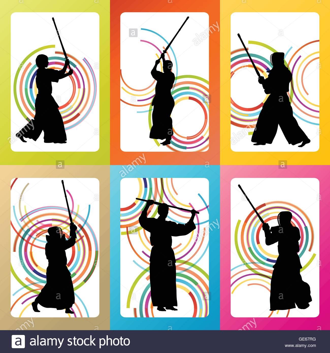 1300x1390 Active Japanese Kendo Sword Martial Arts Fighters Sport
