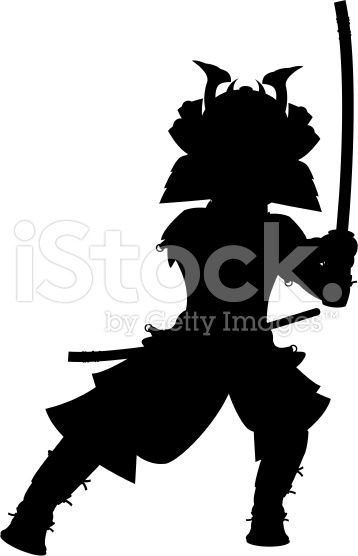 358x556 Feudal Japanese Warrior Fashion Silhouette