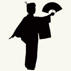 236x236 Kimono Silhouette Japan! Kimonos And Silhouettes