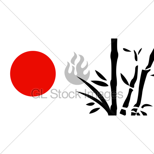 500x500 Traditional Japanese Painting Gl Stock Images