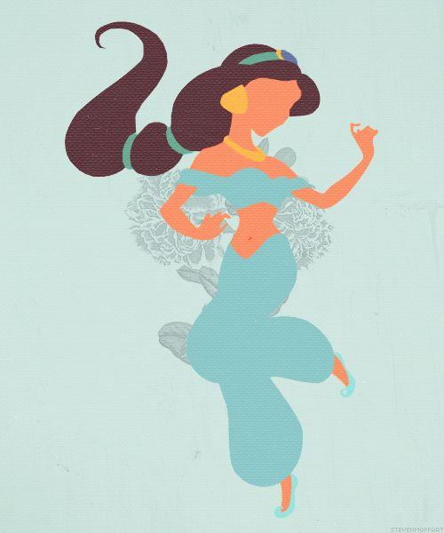 500x600 Jasmine And Aladdin Silhouette