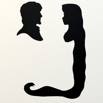 354x354 Aladdin And Jasmine Silhouettes