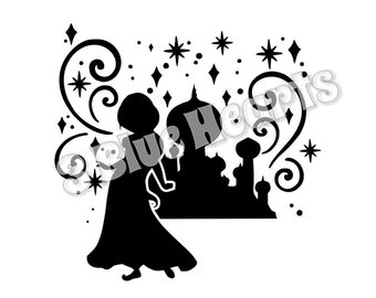 340x270 Aladdin Silhouettes Etsy