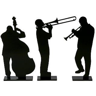 318x318 Deko Silhouetten Kubanische Musiker Kreativ Jazz