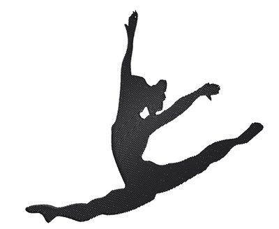 400x328 Jazz Dance Silhouette Embroidery Designs, Machine Embroidery