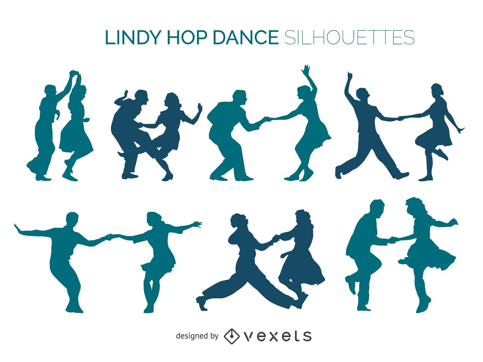 1600x1200 Jazz Dancers Pack Silhouette