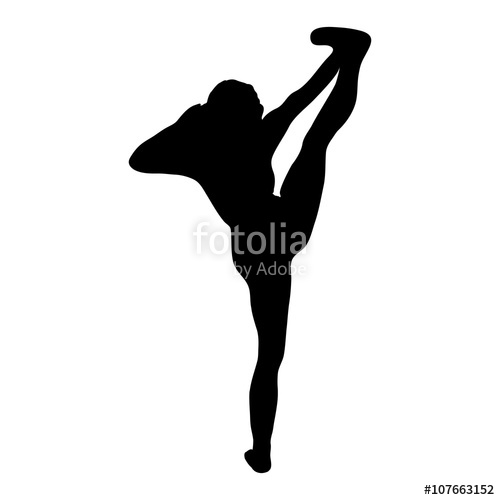 500x500 Dance Silhouette Jazz Funk Stock Image And Royalty Free Vector