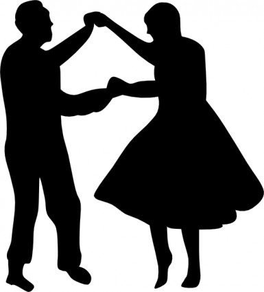 385x425 Dancing Silhouette Clipart