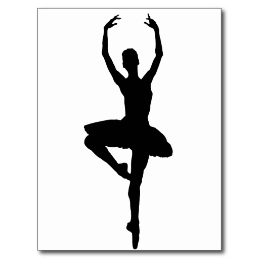 512x512 Jazz Dancer Silhouette Clip
