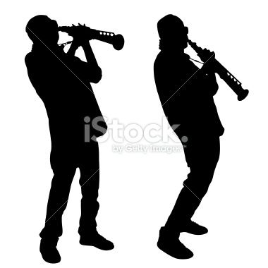 Jazz Man Silhouette