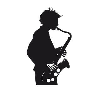 300x299 Man Jazz Sax