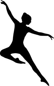 207x327 Jazz Dancer Silhouette