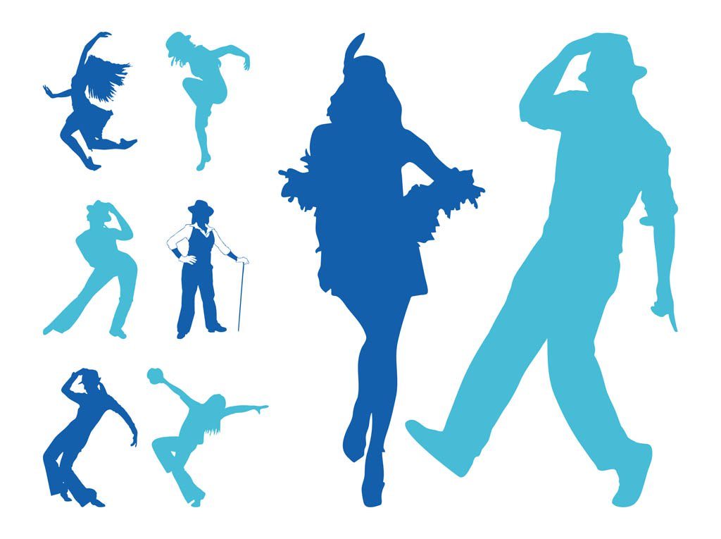 1024x765 Jazz Dancers Silhouettes Vector Art Amp Graphics