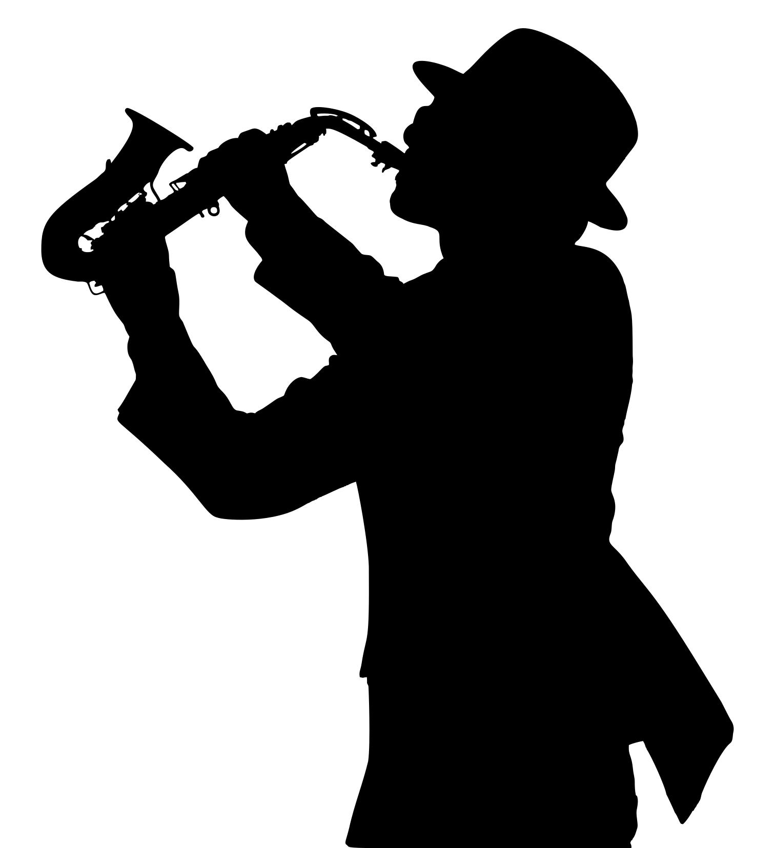 1512x1655 Saxophone Player Silhouette Clipart