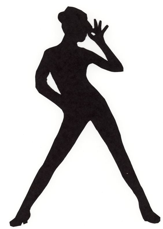 564x793 Iron On Applique Jazz Dancers In Silhouette By Elainesappliques
