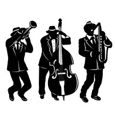 225x225 Special Occasion Fancy Party Jazz Trio 18 Inch Silhouette