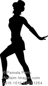 169x300 Art Image Of A Jazz Dancer Performing In Silhouette
