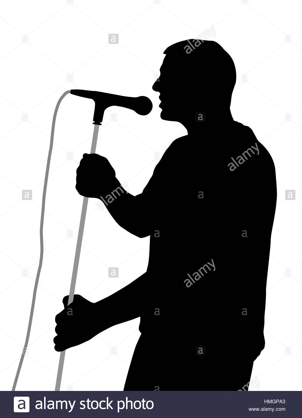 1006x1390 Singer Silhouette Black And White Stock Photos Amp Images