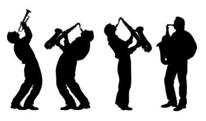 700x411 Silhouette Of Jazz Musician Wall Mural We Live To Change