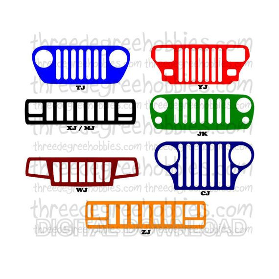 570x570 Jeep Grills Digital Download Svg Dxf Eps By Threedegreehobbies