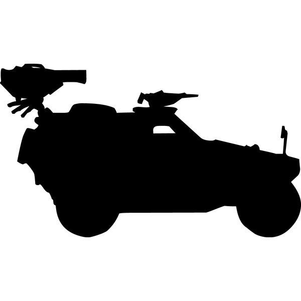 600x600 Wallhogs Haynes Military Military Jeep Silhouette Cutout Wall