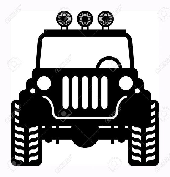 564x587 Jeep Off Road Silhouette