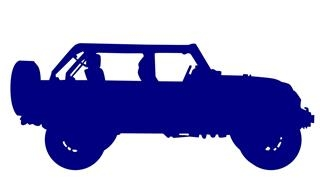 320x187 Jeep Silhouette 3 Decal Sticker