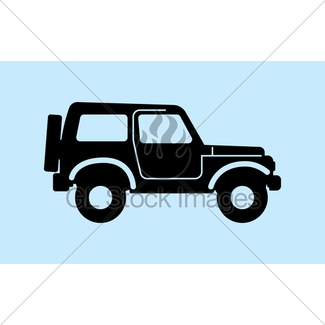 325x325 Jeep Silhouette. Gl Stock Images