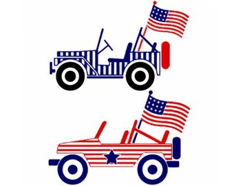 340x270 Jeep American Flag Etsy