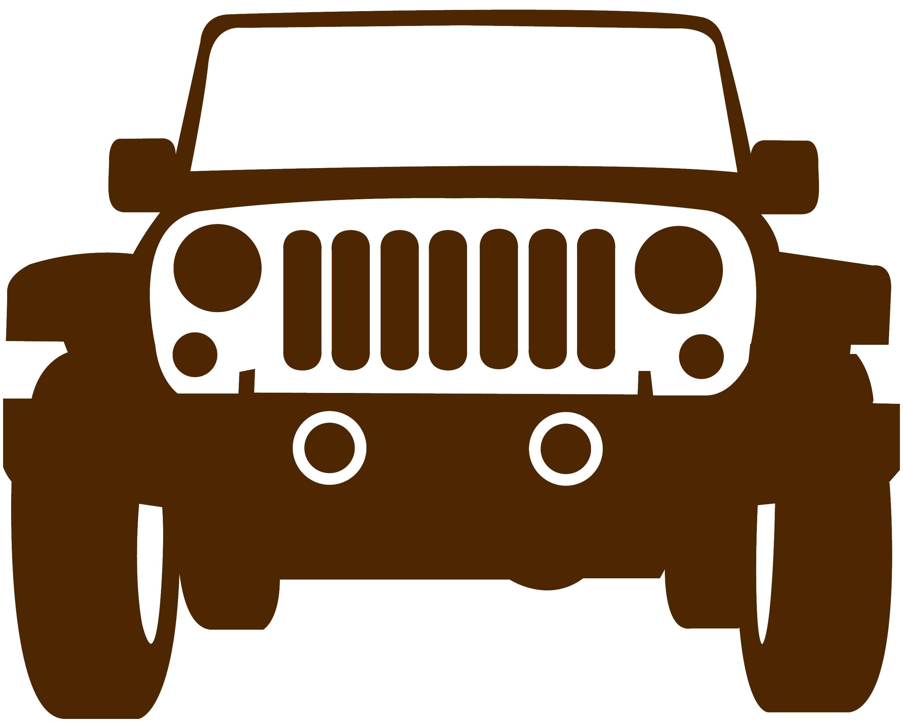 2923x2337 Muursticker Jeep, 2 Formaten, 22 Kleuren Sub Stuff