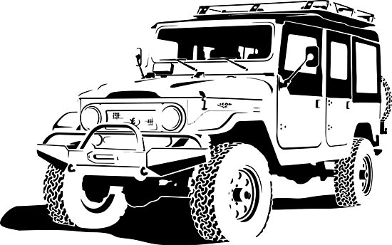 550x344 Toyota Land Cruiser Silhouette Photographic Prints By Jackcinq