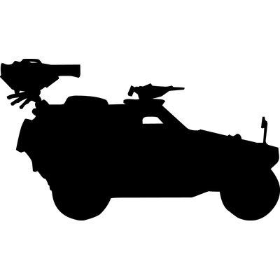 400x400 Wallhogs Haynes Military Military Jeep Silhouette Cutout Wall