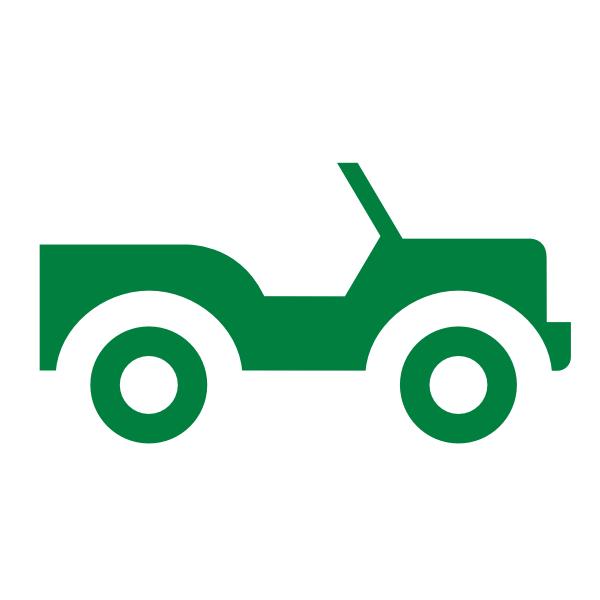600x600 Green Jeep Silhouette Clip Art